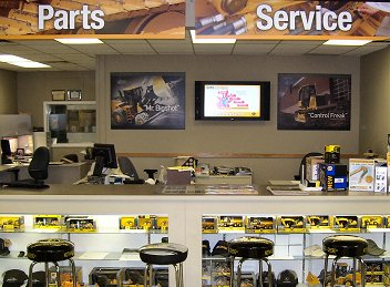 Ontrac parts counter – London, Ontario